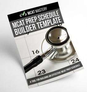 mcat prep schedule builder