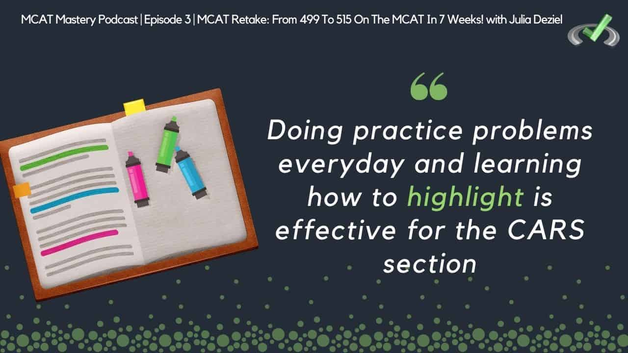mcat mastery - highlighting