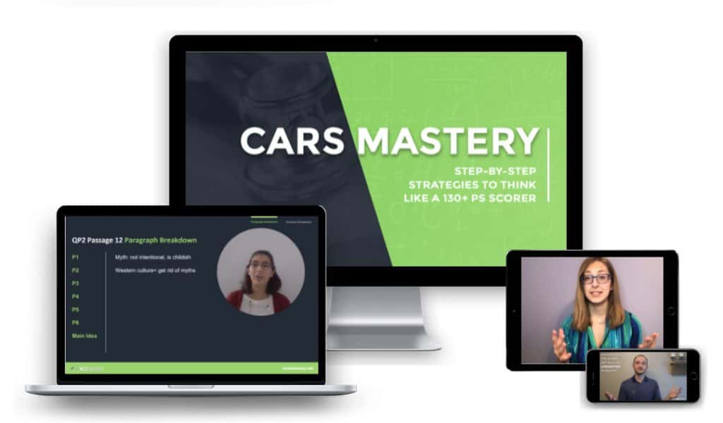 MCAT CARS Strategy Course Mockup